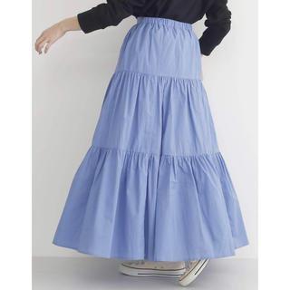 merlot - ☆彡 merlot 新品タグ付 ローンティアードギャザースカート ブルー ☆彡