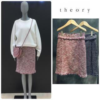 セオリー(theory)の美品♡ theory  ツイード スカート(ひざ丈スカート)