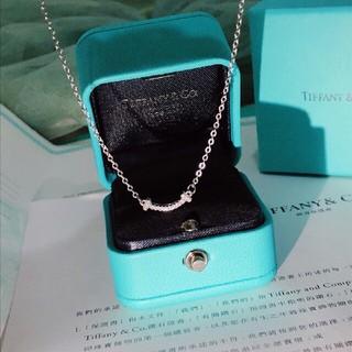 Tiffany & Co. - お値下げ!Tiffany & Co.ティファニー Tスマイル ネックレス ダイヤ