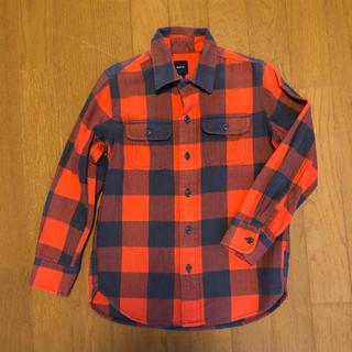 ギャップ(GAP)のGAPキッズ  チェックシャツ S 120(ブラウス)