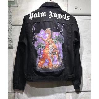 Palm Angels denim jacket ブラック サイズL(Gジャン/デニムジャケット)