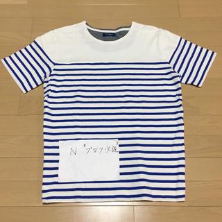 極美品 Navy ネイビー ボーダー マリン tシャツ 半袖 tee(Tシャツ/カットソー(半袖/袖なし))