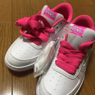 ヴァンズ(VANS)のVANS(ホワイト/ピンク)【Lady's/ 23.5新品】(スニーカー)