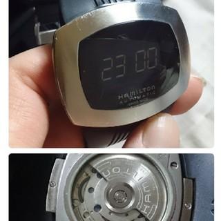 ハミルトン(Hamilton)の世界初、ハミルトンHAMILTONデジタル式クォーツ自動巻き発電パルソマティック(腕時計(アナログ))