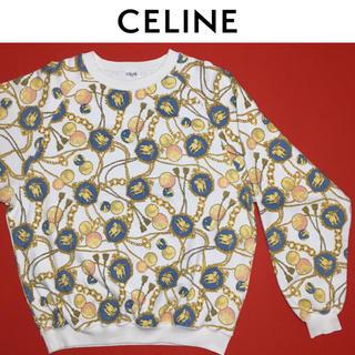 セリーヌ(celine)のCELINE スウェット セリーヌ ヴィンテージ ゴールドチェーン 総柄 (トレーナー/スウェット)