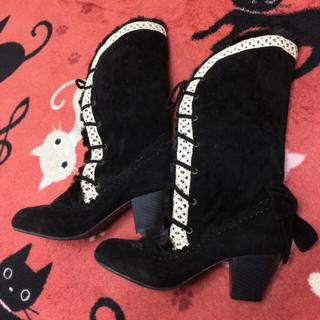 アクシーズファム(axes femme)のアクシーズファム 編み上げブーツ Lサイズ(ブーツ)