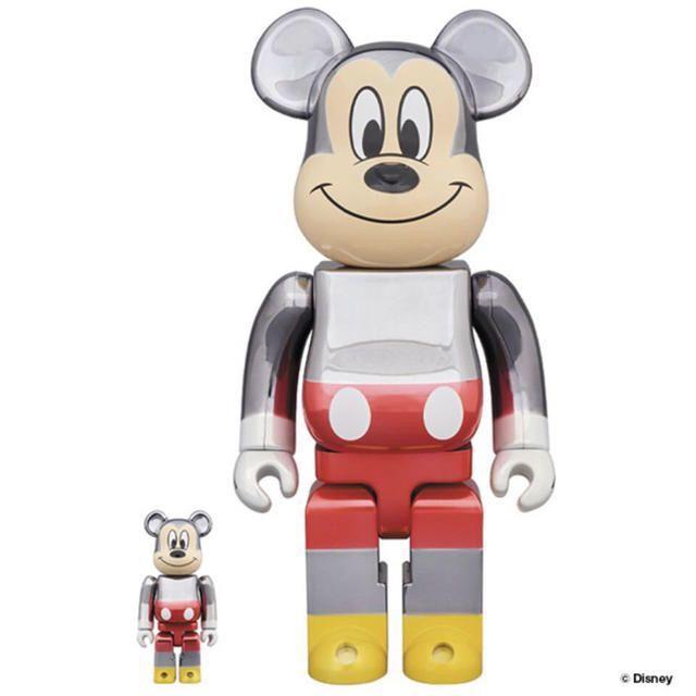 FRAGMENT(フラグメント)の新品 送料込 ベアブリック フラグメントデザイン ミッキー 100% 400% エンタメ/ホビーのおもちゃ/ぬいぐるみ(その他)の商品写真