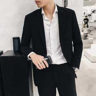 メンズスーツセットアップ人気エリート着痩せビジネス司会者スリム紳士服 OT041(セットアップ)