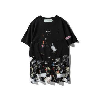 オフホワイト(OFF-WHITE)のOFF WHITE オフホワイト Tシャツ 半袖 サイズXXL 黒(Tシャツ/カットソー(半袖/袖なし))