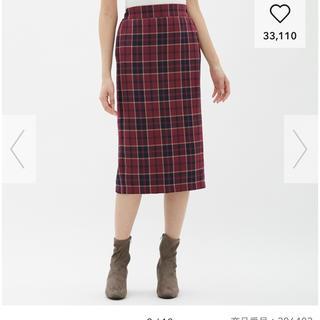 GU - タータンチェックナローミディスカート♥タイトスカート