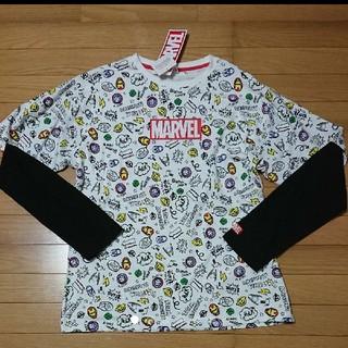 マーベル(MARVEL)の新品 MARVEL 重ね着風Tシャツ マーベル ディズニー(Tシャツ/カットソー(七分/長袖))