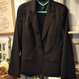就活 大きいサイズ スーツ上下セット ブラック 黒 19号 ストライプスーツ(スーツ)