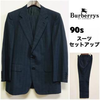 バーバリー(BURBERRY)のBurberrys☆スーツセットアップ☆ストライプ☆ネイビー☆90s☆(セットアップ)