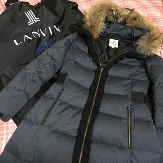 LANVIN en Bleu - ランバンオンブルー 高級ダウンコート 一番人気色ネイビー
