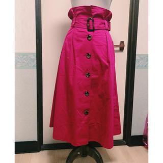エムズエキサイト(EMSEXCITE)のフューシャピンク トレンチスカート(ひざ丈スカート)