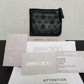 ジミーチュウ(JIMMY CHOO)のジミーチュウ コインケース 黒 レザー 美品(コインケース)