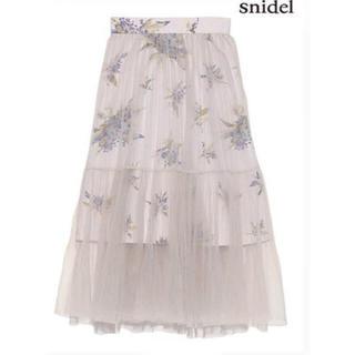 スナイデル(snidel)の【土日限定価格】snidel チュールスカート(ひざ丈スカート)
