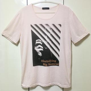 レイジブルー(RAGEBLUE)の【再値下げ!】RAGEBLUE フォトプリント ライトピンクTシャツ《Lサイズ》(Tシャツ/カットソー(半袖/袖なし))