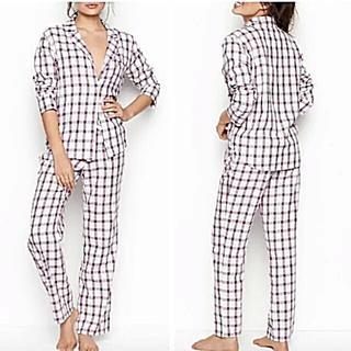 ヴィクトリアズシークレット(Victoria's Secret)の新品 VS 長袖&軽量 カジュアルnighty♪ Flannel パジャマ(パジャマ)