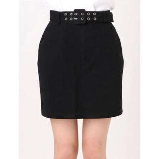 EMODA - EMODA ダブルベルトスカート ミニスカート スカート