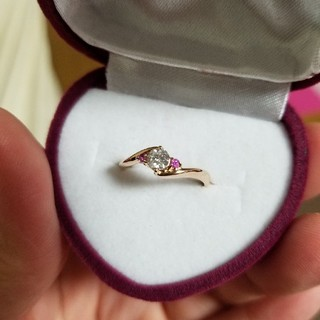 k18金 ローズゴールド ダイヤモンド0.216ct リング(リング(指輪))