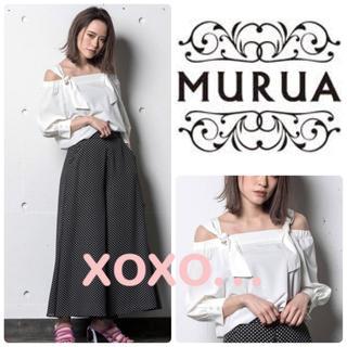 ムルーア(MURUA)のMURUA ハトメオフショルブラウス(シャツ/ブラウス(長袖/七分))