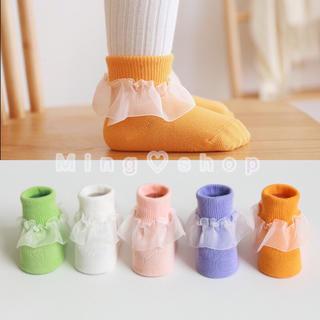 新入荷、新品・送料無料・韓国可愛い子供靴下キッズフリルソックス