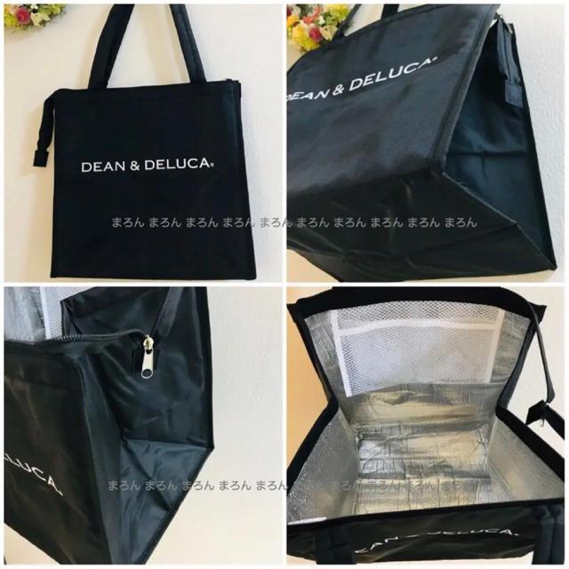 DEAN & DELUCA(ディーンアンドデルーカ)の【大容量】DEAN&DELUCA保冷バッグ 黒 Lサイズ トートバッグエコバッグ レディースのバッグ(エコバッグ)の商品写真