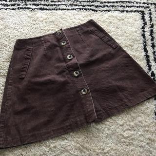サンタモニカ(Santa Monica)の古着屋購入 used vintage  コーデュロイスカート ブラウン 秋冬(ミニスカート)