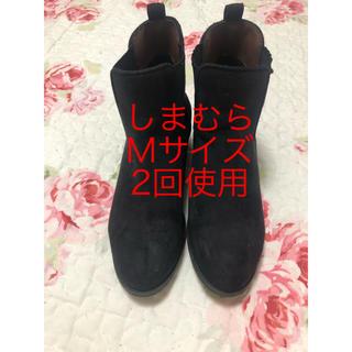 シマムラ(しまむら)のサイドゴア ショート ブーツ しまむら M (ブーツ)