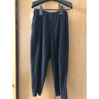 イッセイミヤケ(ISSEY MIYAKE)のhomme plisse issey miyake 定番 ワイドパンツ 黒(サルエルパンツ)