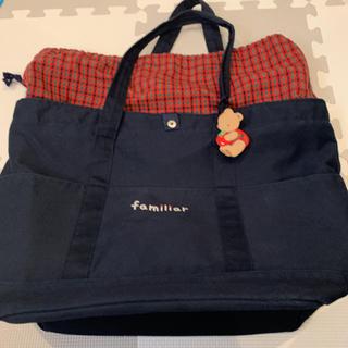 familiar - ファミリア マザーズバッグ 赤 チェック 現行品