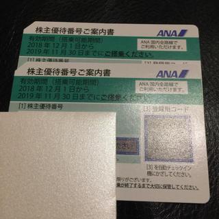 ANA(全日本空輸) - 2枚 ANA 株主優待券 ※2019年11月30日まで搭乗