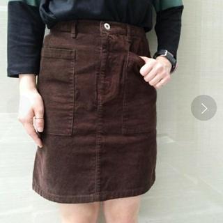 カスタネ(Kastane)のBIGポケットスカート(ひざ丈スカート)