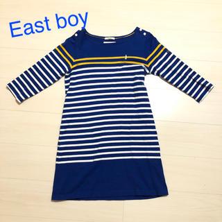 イーストボーイ(EASTBOY)のEast boy ボーダーワンピース M(ひざ丈ワンピース)
