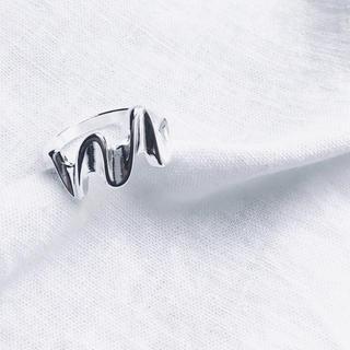 ミスティック(mystic)のシンプル ウェーブ シルバー 925 リング(リング(指輪))