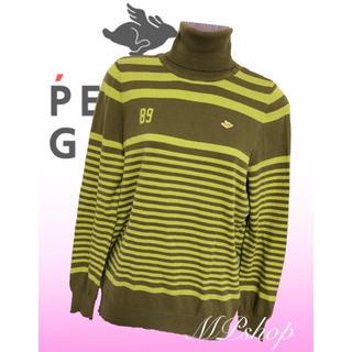 PEARLY GATES - パーリーゲイツ ボーダー タートルネック ニット セーター ゴルフウェア 秋冬