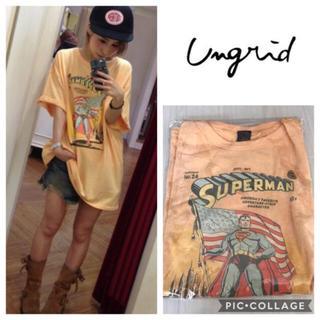 アングリッド(Ungrid)のUngrid*supermanプリントtee(Tシャツ(半袖/袖なし))