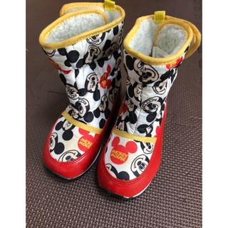 Disney - ミッキーマウス ムートンブーツ 15cm 長靴 スノーブーツ