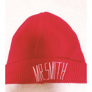 ウィゴー(WEGO)の赤いニット帽 WEGO(ニット帽/ビーニー)