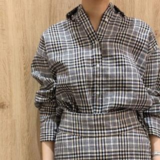 ミラオーウェン(Mila Owen)のMila Owen☆リネンチェックシャツ(シャツ/ブラウス(長袖/七分))