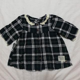 ビケット(Biquette)のBiquette  五分袖シャツ 95サイズ(ブラウス)