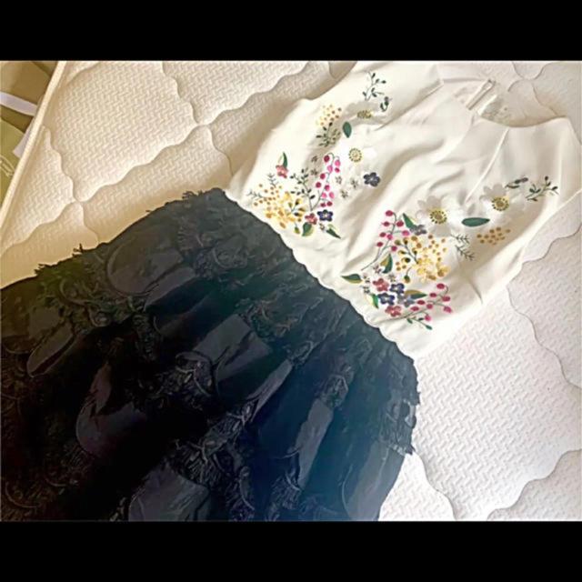 Chesty(チェスティ)のチェスティ刺繍ワンピースミーアスナイデルダズリンリリーブラウンココディール レディースのワンピース(ひざ丈ワンピース)の商品写真