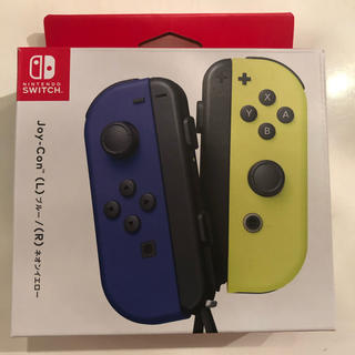 Nintendo Switch - ジョイコン ブルー ネオンイエロー スイッチ joy-con