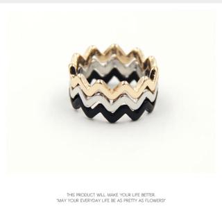 マウジー(moussy)のシンプルウェーブデザインリング(リング(指輪))