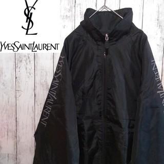 Saint Laurent - 【超激レア】イヴサンローラン☆スリーブロゴ背面刺繍デカロゴ入りナイロンジャケット
