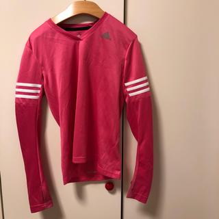 アディダス(adidas)のアディダス 長袖 Tシャツ ピンク S(Tシャツ(長袖/七分))