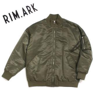 プライマーク(PRIMARK)のRIM.ARK MA-1 ジャケット size36 カーキ リムアーク (ミリタリージャケット)