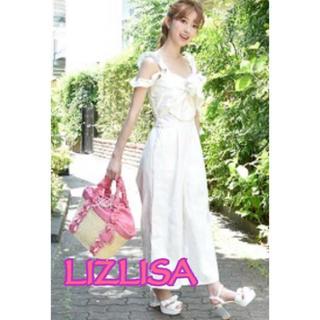 LIZ LISA - 254 デニム リボン オールインワン ホワイト LIZ LISA 新品未使用
