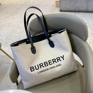 BURBERRY - Burberry キャンバス トートバッグ ハンドバッグ